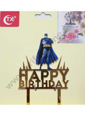 Cake Decor Mirror Acrylic Happy Birthday Cake Topper Batman