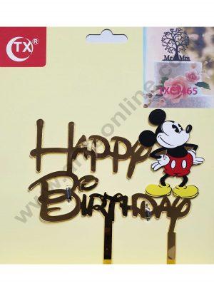 Cake Decor Mirror Acrylic Happy Birthday Cake Topper Mickey Mouse