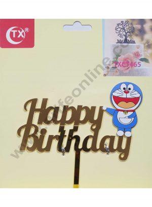 Cake Decor Mirror Acrylic Happy Birthday Cake Topper Doraemon