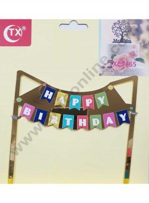 Cake Decor Mirror Acrylic Happy Birthday Cake Topper Party Theme