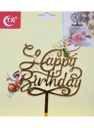 Cake Decor Mirror Acrylic Happy Birthday Cake Topper Little Fairies