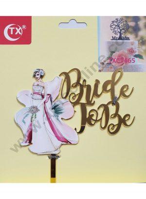Cake Decor Mirror Acrylic Bride To Be Cake Topper Lady