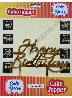 Cake Decor Mirror Finshing Acrylic Cake Topper Happy Birthday
