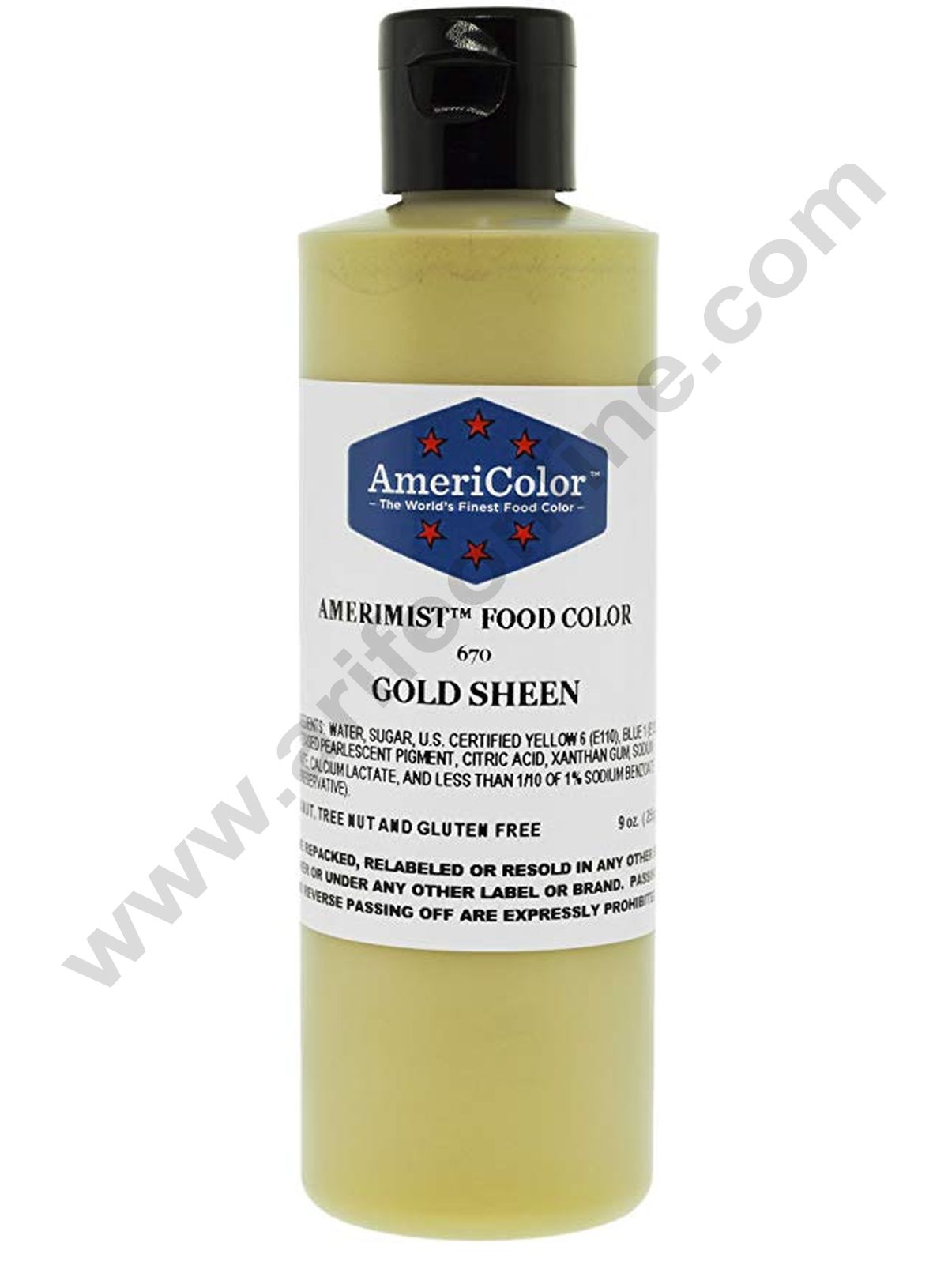 AmeriColor Gold Sheen 9 oz Soft Gel Paste Food Color (255g)